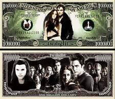 Twilight Million Dollar Bill Collectible Fake Play Funny Money Novelty Note