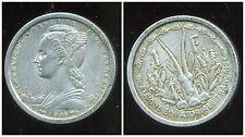 AFRIQUE EQUATORIALE FRANCAISE 1 franc  1948