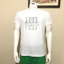Lacoste Mens Big Croc Graphic Cotton Tee in White, Size 4 (Small)