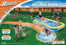 New Banzai 3-in-1 Aqua Water Drench Splash Park w/ Water Slide & Inflatable Pool