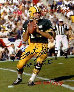 Reprint Bart Starr Autographed Green Bay Packers 8X10 PHOTO Man Cave BAR DECOR