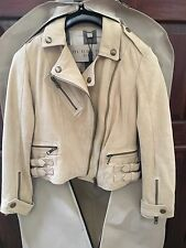 New Authentic Burberry Brit Sandfield Suede Moto Jacket Size 4 NWT Reg $1995