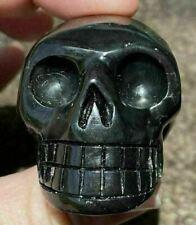 ~Rare!~ Russian SHUNGITE Crystal Skull - Vitality! Grounding - S19352