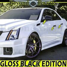 2008 09 10 11 12 2013 CADILLAC CTS GLOSS BLACK Door Handle Covers+Mirror Covers