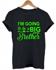 I'M GOING TO BE A BIG BROTHER, Personalised, baby, announcement T Shirt ALL AGES