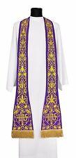 Purple Roman Clergy Stole SH630-F Vestment Étole Stola Viola Estola Morada