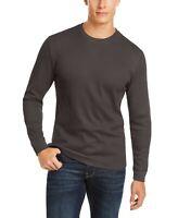 Club Room Mens T-Shirt Lead Gray Size Large L Thermal Crewneck Tee $35 168