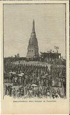 Stampa antica PALESTRO Cerimonia di Inaugurazione Ossario Pavia 1893 Old print