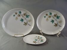 Carefree True China By Syracuse 1 Salad Plate & 2 Oval Platters Woodbine Pattern