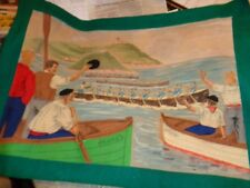 Original de Pa Campa :Mixed media painted on canvas-Bilboa Spain,Boat races in M