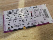 Ticket  Anderlecht Lazio Roma Amical Belgique 2015