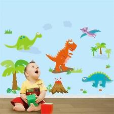 Dinosaurs Wall decal Removable stickers kids nursery boys girls bedroom decor
