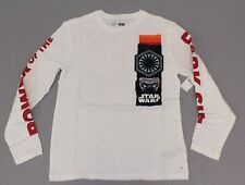 GAP Unisex Kid's Long Sleeve Star Wars Graphic T-shirt DD5 White Large NWT