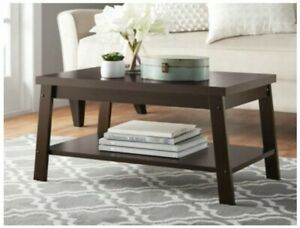 Mainstays Logan Coffee Table Living Room Furniture Expresso Brown