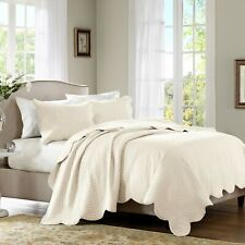 Madison Park 3-Piece Genoa Coverlet Set - Ivory - Size:Full/Queen