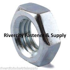 (50)  M10-1.25 or 10mm Metric FINE Thread Hex Jam / Thin Nut / Half Thick 10mm