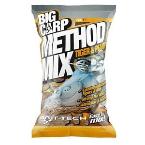 Bait Tech NEW Big Carp Method Mix Tiger & Peanut Fishing Groundbait 2kg
