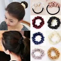 Elastic Women Girls Beads Pearls Headwear Hair Rope Band Tie Scrunchie Headband