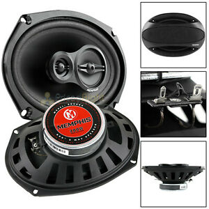 """Memphis Audio 6x9"""" 3 Way Coaxial Speakers Pair 100W Max Street Reference SRX693"""