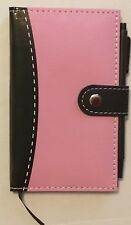Notebook with Pen-Pink & Black Perfect For Purse or Backpack Mother's Day gift