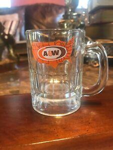 "A & W Mini Root Beer Mug 3""Tall, USA Pattern, Heavy, Shot Glass"