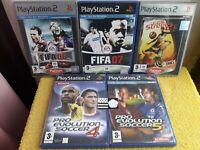 5 Jeux PS2 Playstation 2 FIFA 06 07 Street 2 Pro evolution soccer 4 & 5 Football