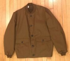 VTG Mens SIR JAC Brand Bombers Style, Button Down Faux Fur Lined Jacket! Sz: Lg