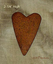 """18 ~ Primitive Rusty Tin 2-1/4"""" Hearts for Crafts"""