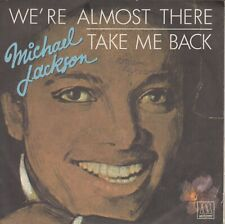 """Michael Jackson 7"""" vinyl single We're Almost There 1975"""