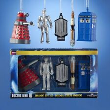 Kurt Adler Doctor Who 2D Printed Ornament Gift Box, 2 5Inch, Set of 5 NEW