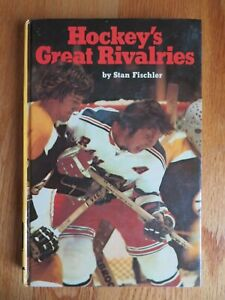 HOCKEY'S GREAT RIVALRIES 1974 HC Book by Stan Fischker BOBBY ORR Canada Cup