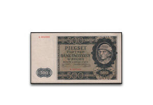 Poland 500 Zloty 1940 General Government 1 Banknote Used