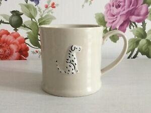 Gisela Graham Ceramic Mug with Black and White Spot Dog Design 8cm