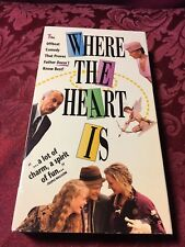 Where The Heart Is (1990 VHS) Dabney Coleman Uma Thurman Crispin Glover SHIP NOW