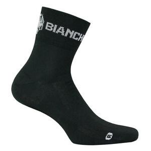 Bianchi Milano ASFALTO Coolmax Cycling Socks : BLACK - One Pair