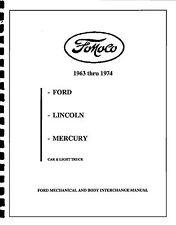 FOMOCO PARTS INTERCHANGE 1963-1974