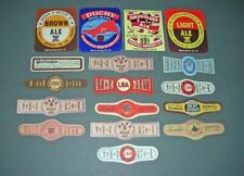 17 Old Unused Brewery Beer Bottle Labels .