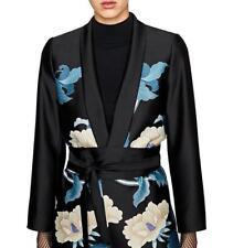 Women spring Fashion Vintage Retro Floral Print Kimono Suit jacket Outwear coat