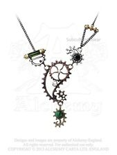Alquimia ingenieurial elegancia pendant/necklace p642 steampunk/swarovski/cog