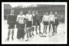 Dresden HTC Ice Hockey Team rppc Germany stamp 1934