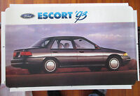 "Ford Escort 1993 Dealer Showroom Promotional Photo/Poster 22 1/2"" x 14"""