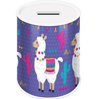 Llama Cute Coins Money Tin Box Piggy Bank Novelty Savings Coin Jar Counting