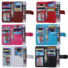 9 Card slot PU Leather Flip Magnetic Wallet Case Cover for Samsung S8 Note 8 S7