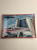 Vintage WALT DISNEY WORLD Red MONORAIL GLASS ASHTRAY DISH CONTEMPORARY RESORT