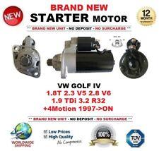 Para VW Golf IV 1.8 T 2.3 V5 2.8 V6 1.9 TDI 3.2 R32 +4 Motion 1997-ON motor de arranque