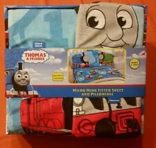 Thomas & Friends Train Micro Mink Fitted Sheet and Pillowcase
