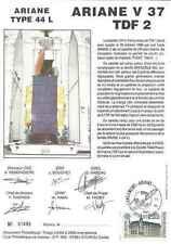 Timbre souvenir philatélique Cosmos Ariane V37 TDF2 lot 14948