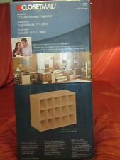 ClosetMaid Stackable Storage Organizer, 15-Cube, 08579 , Maple Color