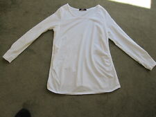 Maternity George Asda Pre-Loved White Long Sleeved Stretchy Top Size 14