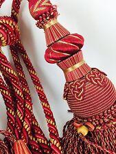 Stunning pair antique vintage curtain tassel tie backs 1m long (please read)